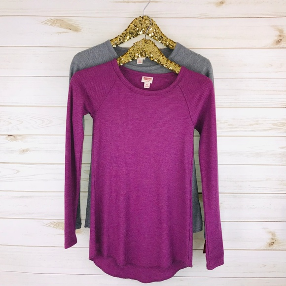 *NEW* MOSSIMO Women/'s Size XSmall XS Thermal Long Sleeve Shirt